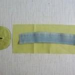 Заготовка к игольнице и детали кроя