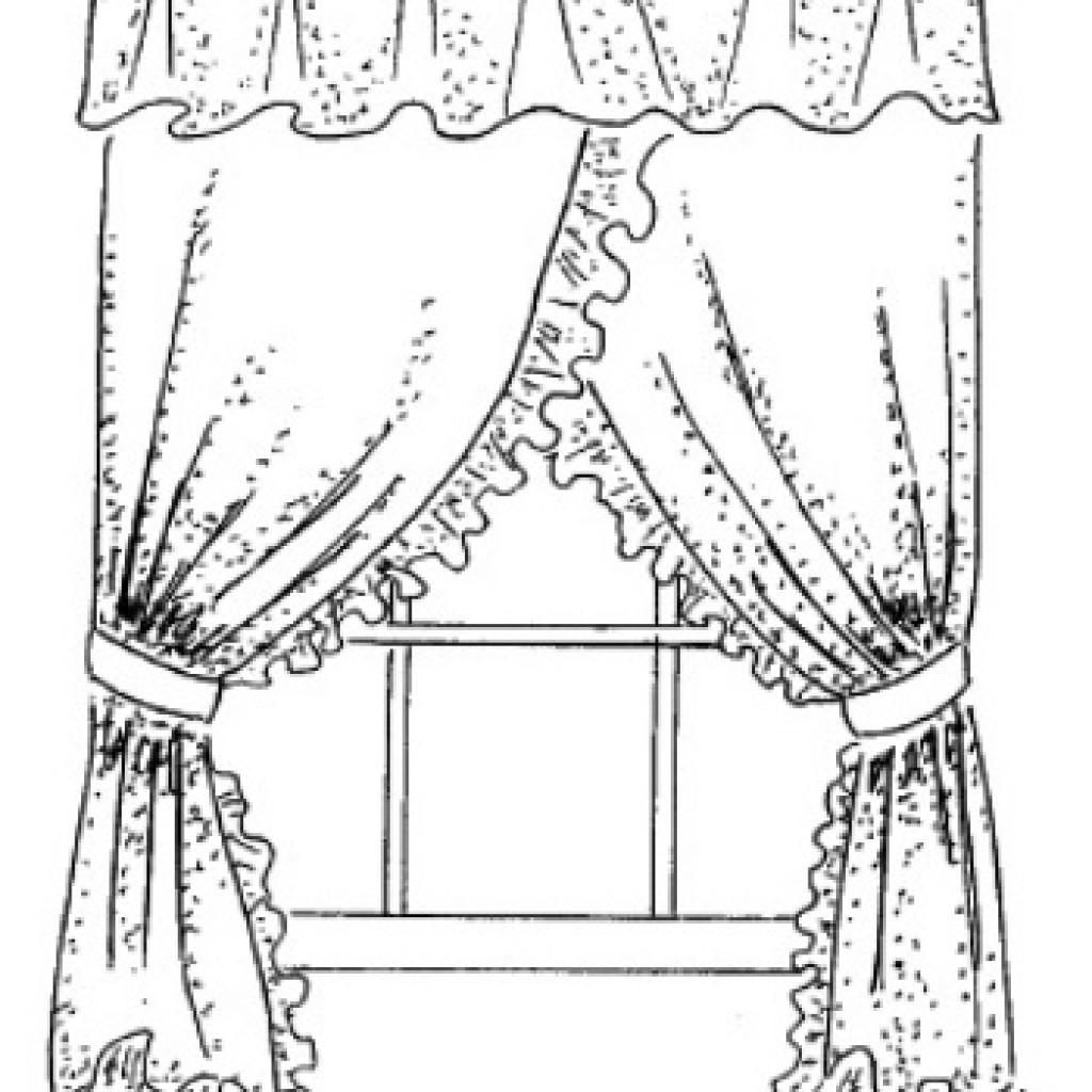 Макет окна со шторами своими руками