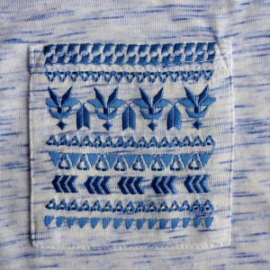 вышивка на кармане