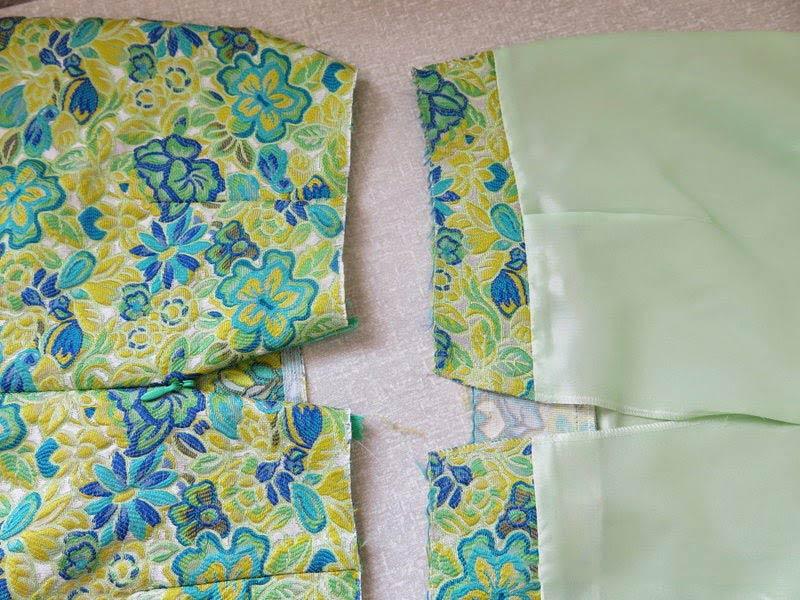 соединение юбки с подкладкой