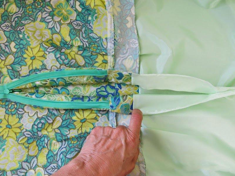 пришивание подкладки по молнии