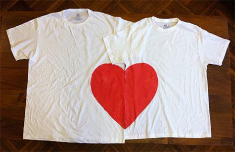 парные футболки своими руками