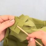 укрепление разреза в шве юбки