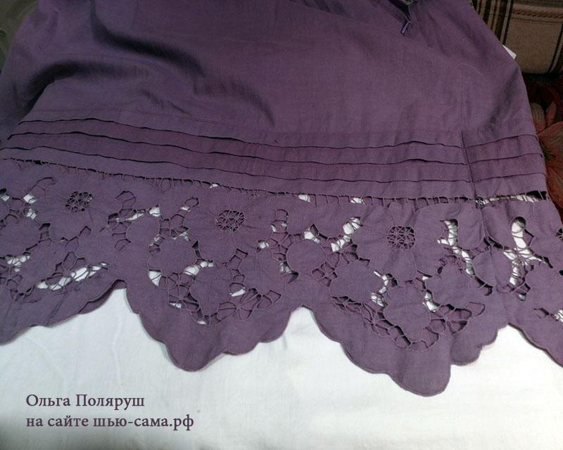 платье с вышивкой ришелье
