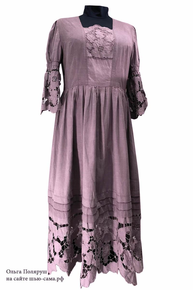 платье бохо из подзоров ришелье