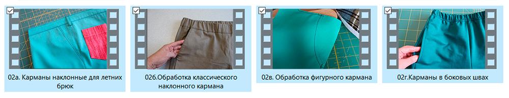 карманы для брюк и юбок