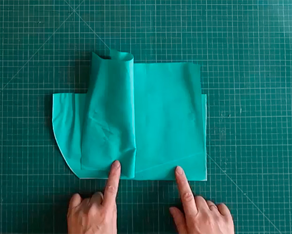 шитьё наклонного кармана