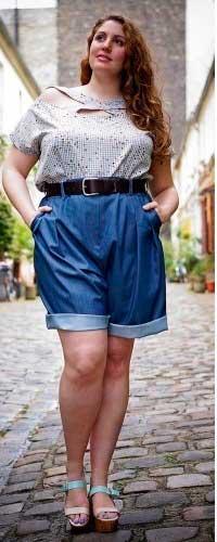 шорты со складками