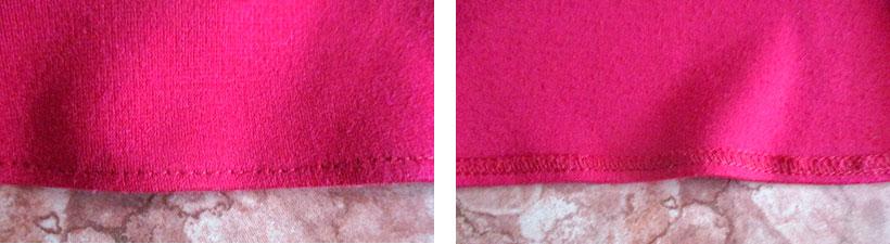 подшить расклешенную юбку