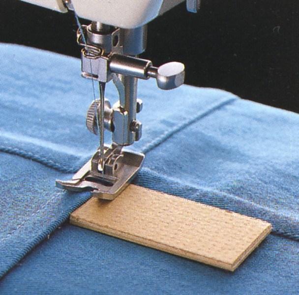 шитье на толщине