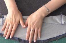 Как подшить расклешенную юбку или деталь овальной формы