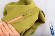 Как укрепить разрез в шве юбки от разрыва