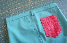 Как сшить боковой карман для лёгких (летних) брюк/юбок