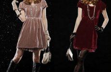 Платье из бархата— современный выбор