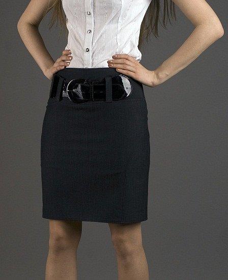юбка с ремнем