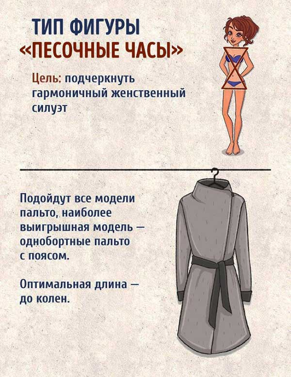 пальто, фигура песочные часы