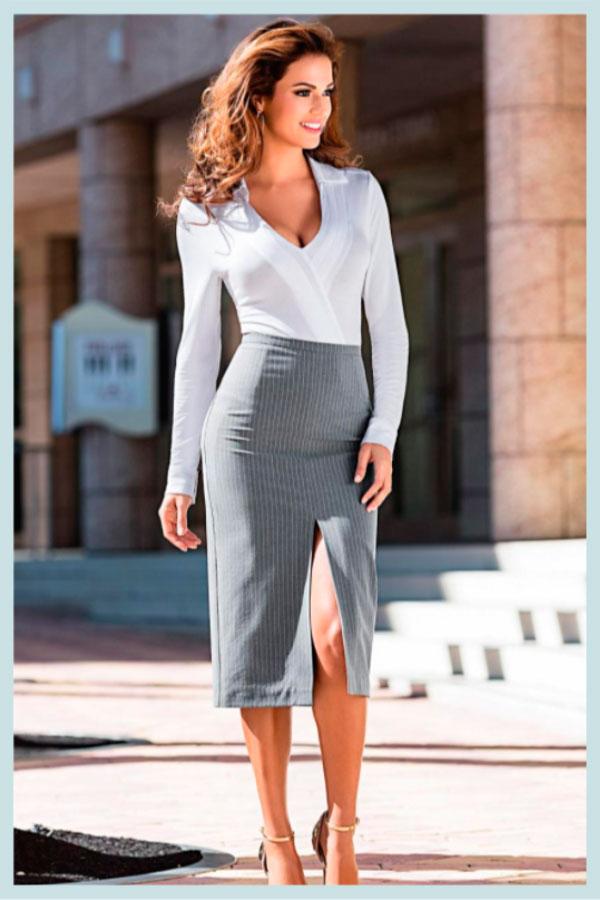 юбка с разрезом