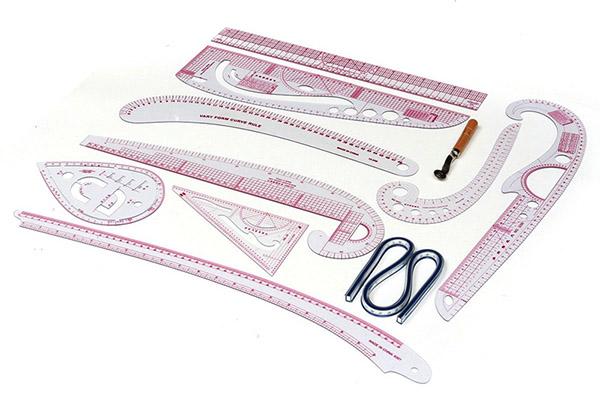 набор лекал для кройки и шитья
