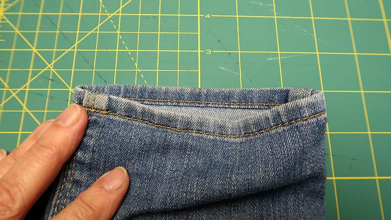 как прошить толщину на джинсах
