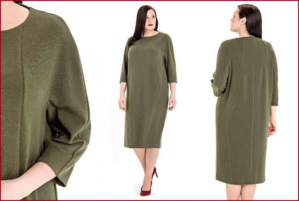 Платье-с-рельефными-линиями на полную фигуру
