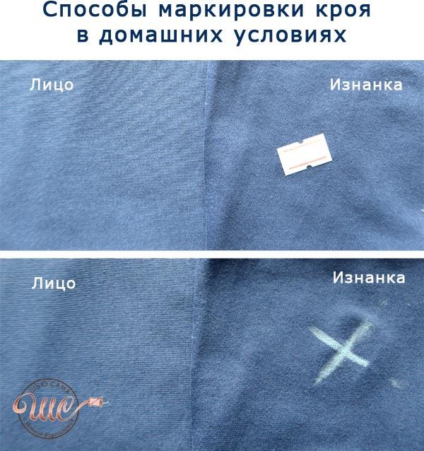 лицевая сторона ткани, маркировка