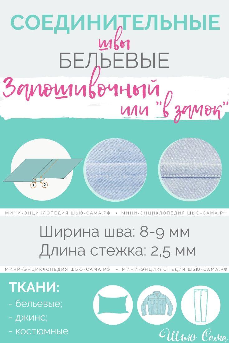 Соединительный бельевой запошивочный шов