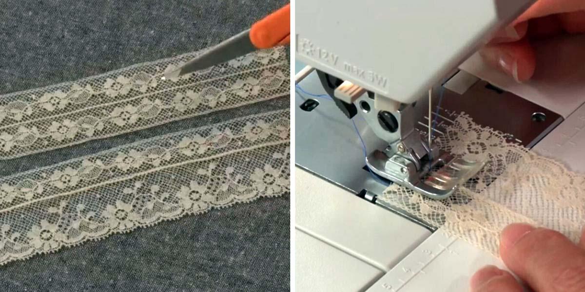 сшивание кружева