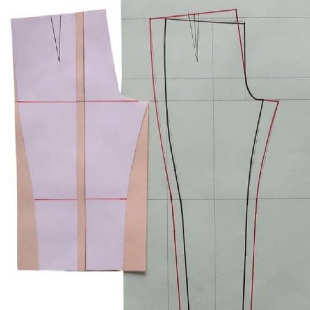 моделирование задней половинки брюк