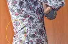 Причины образования складок на спинке платья (блузки)