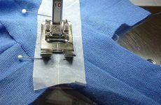 Сшивание мелких деталий из капризных материалов